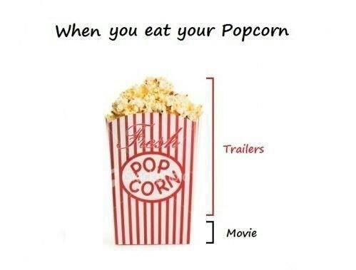 There is never enough popcorn!