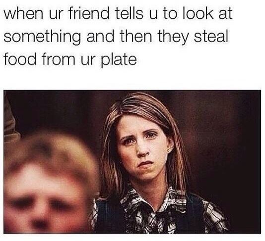 When someone steals your food