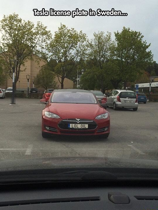 Awesome Tesla License Plate