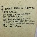 Bathroom poetry