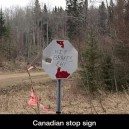Canadian stop sign