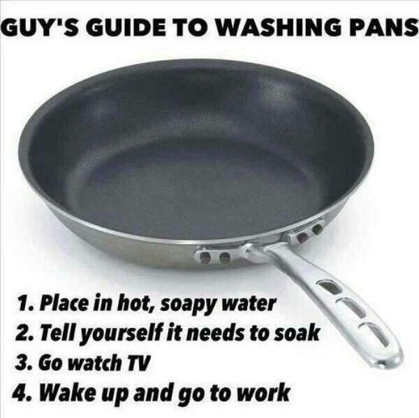 Guys guide to washing pans