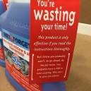 Sassy warning label