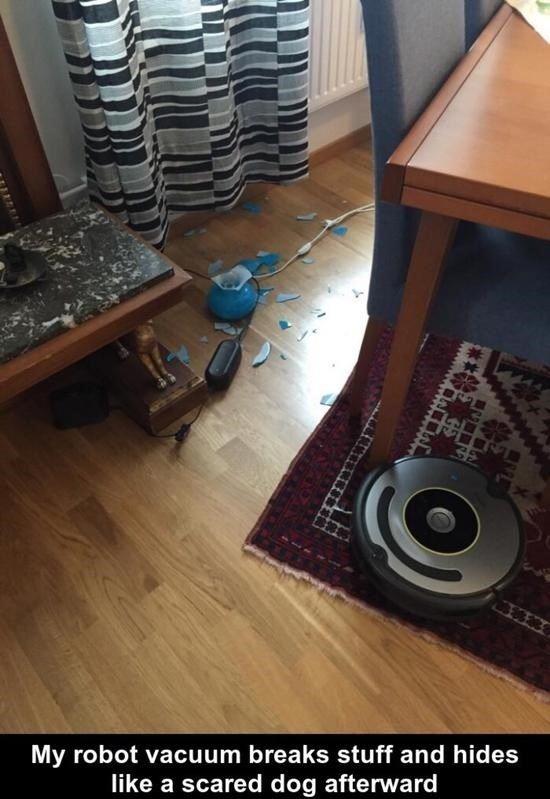 Scumbag robot vacuum