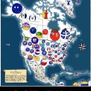 StateBall Map of North America
