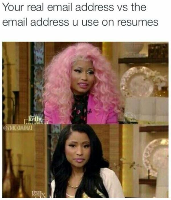We all have that email address