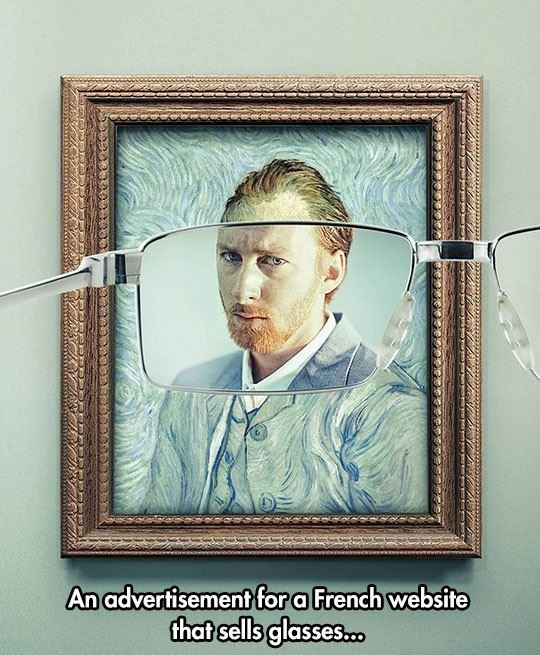 Creative Ad For Glasses