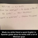 English to Spanich guide