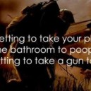 Forgetting to take your phone to the bathroom