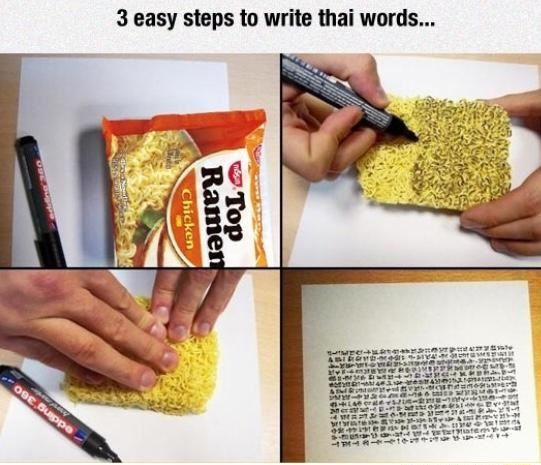 How to write Thai