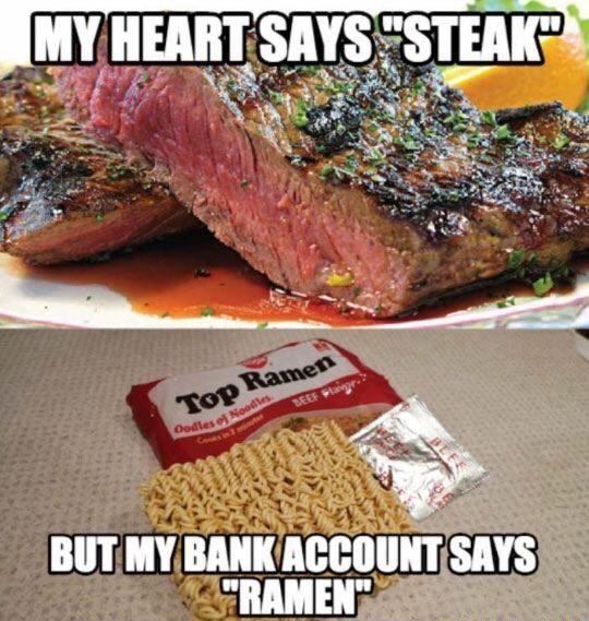 I want steak!