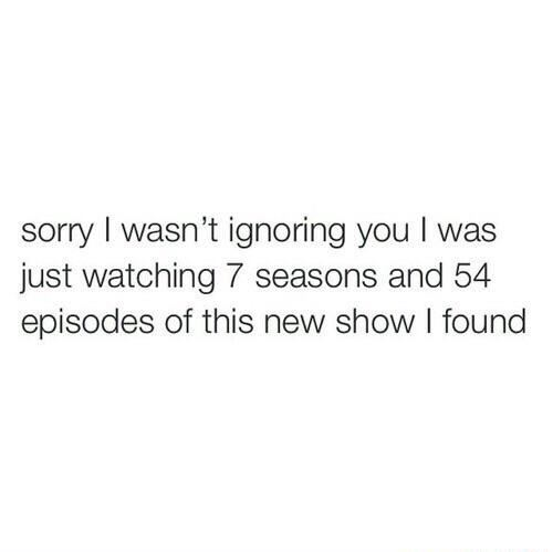 Same thing for every new show