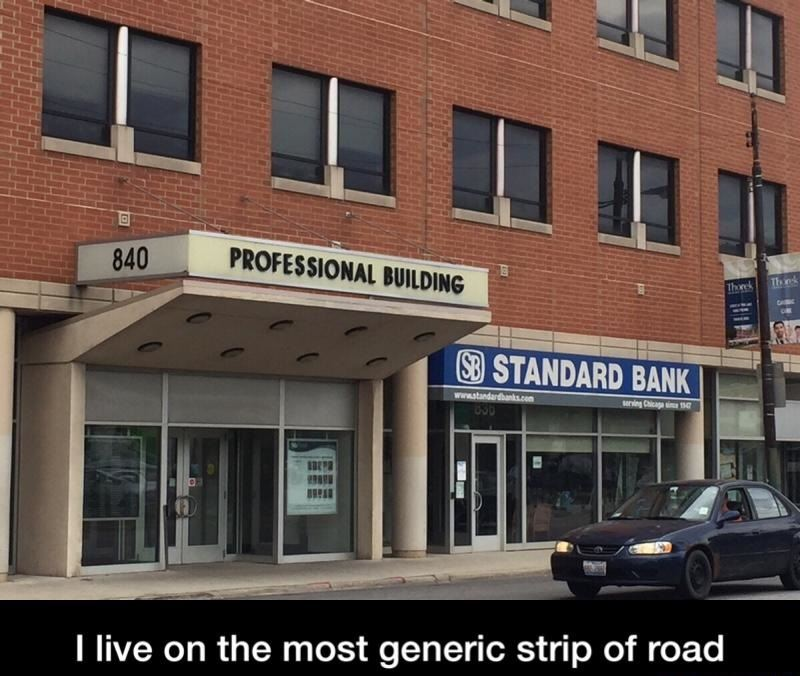 The most generic strip of road