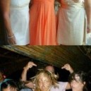Girls before and during a night out