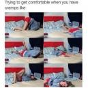 Having cramps