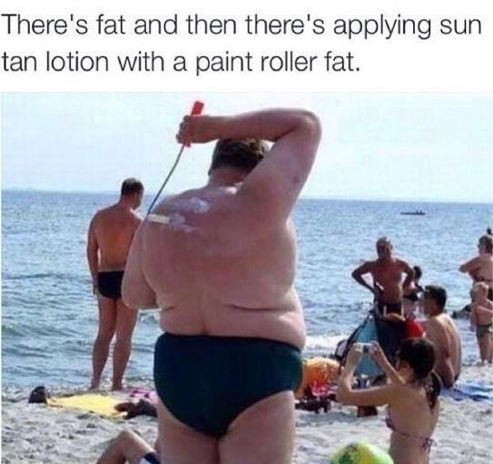 New way to apply sun block