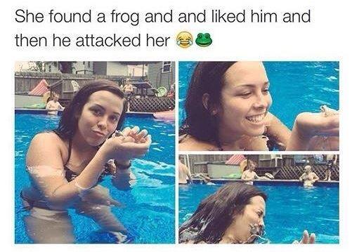 Scumbag frog