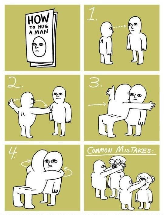 The Proper Way To Hug A Man