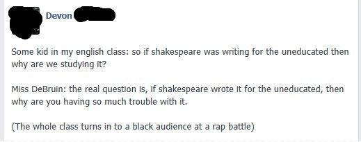 Why read Shakespeare