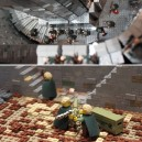 Helms Deep recreated in Lego