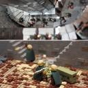 Helms Deep recreated in Lego