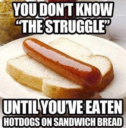 Oh the struggle!