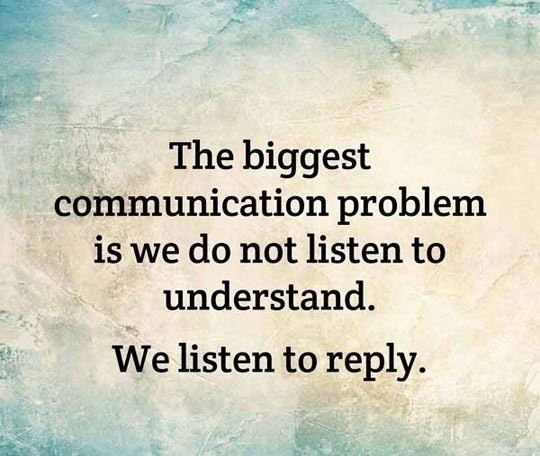 Our Biggest Communication Problem