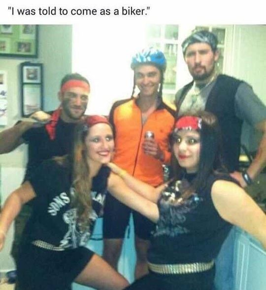 Perfectly fine biker costume!