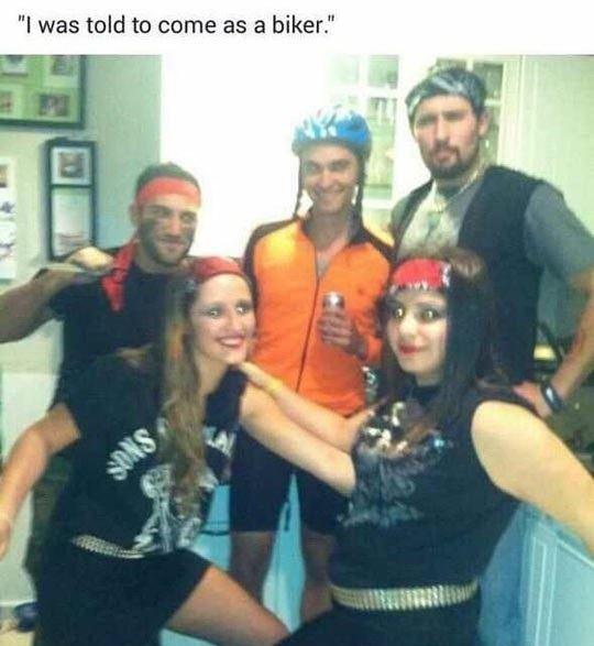 Perfectly fine biker costume!