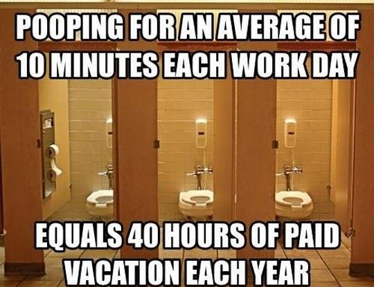 Why you should poop at work