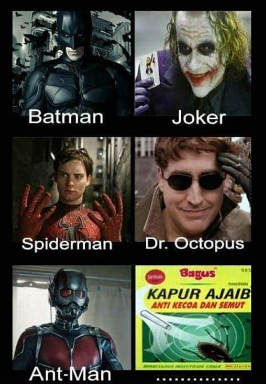 Every Superhero Has His Deadly Enemy