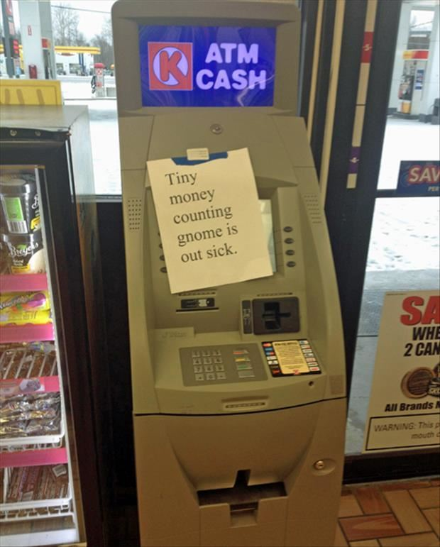 Out of order atm machine