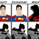 Superman Emotions Vs. Batman Emotions