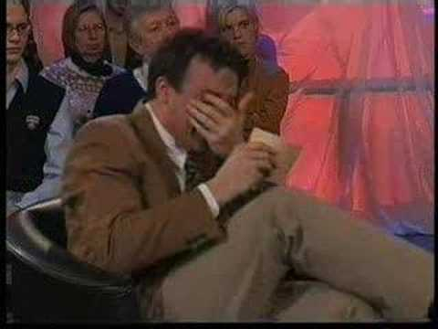 Dutch TV presenter who can't stop laughing!