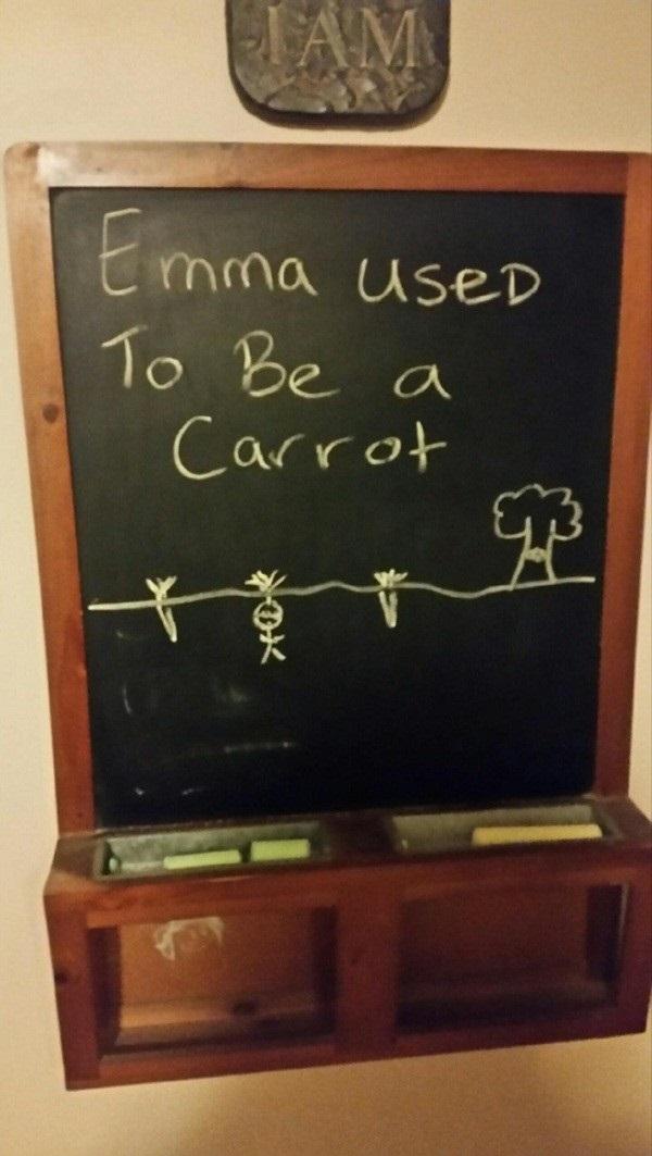 Chalkboard teasing