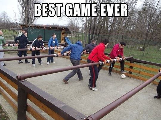 Giant Foosball Game