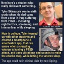 Help for PTSD attacks. Good work son!