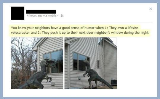 Neighbors With a Brilliant Sense of Humor