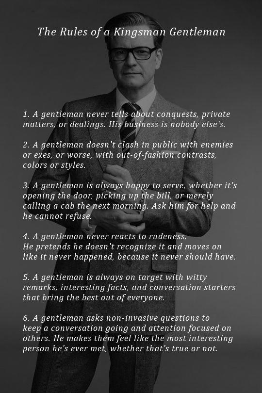 The Rules of a Gentleman