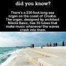 The sea organ in Croatia