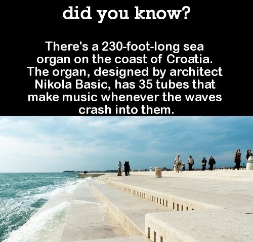 The sea organ in Croatia