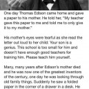 Thomas Edison's Mother