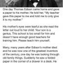 Thomas Edison's Mother