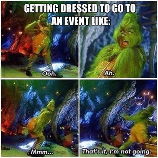 Trying clothes for an event