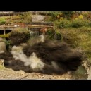 Draining a dam with explosives! Video!