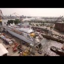 Timelaps video of cutting a ship in half!