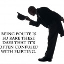 Being Polite or Flirting