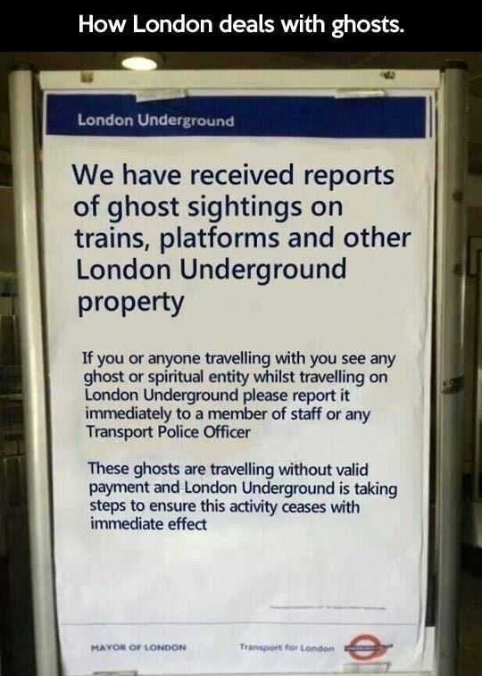 Dealing With Ghosts In London