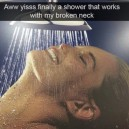Finally I can shower!