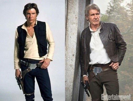 Han Solo Then And Now